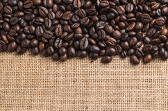 Coffee beans on wood background. 1 Royalty Free Stock Photos