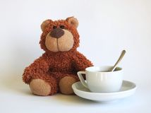 Coffee and bear Stock Images