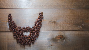 Coffee beard Royalty Free Stock Images