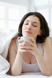 Coffee in bed Royalty Free Stock Photos
