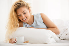 Coffee in the bed Royalty Free Stock Images
