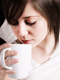 Coffee in bed Royalty Free Stock Photo