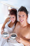 Coffee in bed Royalty Free Stock Images