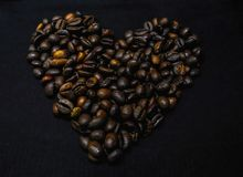 Coffee been heart Royalty Free Stock Photos