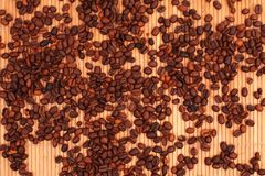 Coffee-beens background Royalty Free Stock Photos
