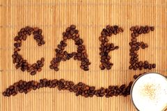 Coffee-beens background Royalty Free Stock Photo