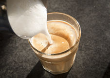Coffee Being Poured Stock Photography