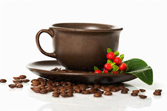 Coffee berries on a plate Stock Photo