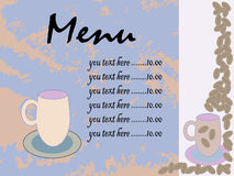 Menu for restaurant, cafe, bar, coffeehouse Stock Photo