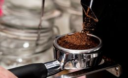 Coffee is the best. resting place. Great shots for lovers of cozy atmosphere royalty free stock photography