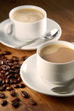 Coffee Beverage. With coffee bean on background stock images