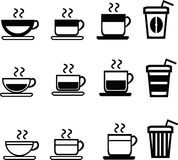 coffee and beverage icons Royalty Free Stock Photography