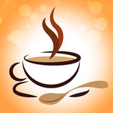 Coffee Beverage Means Coffeecup Drink And Caffeine. Beverage Hot Representing Coffee Break And Restaurant Royalty Free Stock Images
