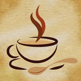 Coffee Beverage Means Restaurant Cafeteria And Caffeine. Beverage Coffee Showing Caffeine Drink And Drinks Royalty Free Stock Image