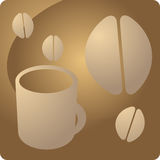 Coffee beverage panel Royalty Free Stock Photography