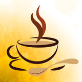 Coffee Beverage Represents Caffeine Cafe And Cafeteria. Hot Beverage Meaning Coffee Break And Drinks Stock Photos