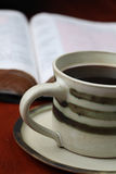 Coffee and the Bible Stock Image