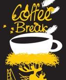 Coffee in bird nest Stock Images