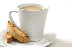Coffee and Biscotti Stock Images