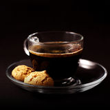 Coffee with biscotti Royalty Free Stock Photography