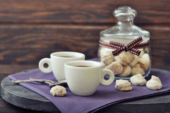 Coffee and biscotti Royalty Free Stock Photography
