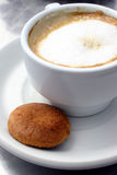 Coffee and Biscuit 2. Coffee and single biscuit Stock Photos