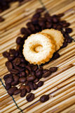 Coffee and biscuit Royalty Free Stock Photos