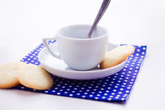 Coffee and biscuit Stock Photo