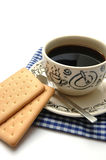 Coffee and Biscuit Stock Photography