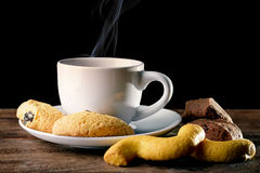 Coffee with biscuit Stock Image