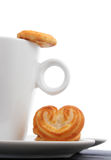 Coffee and Biscuits Stock Photo