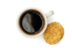 Coffee and biscuits Royalty Free Stock Photography