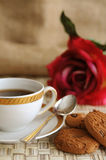 Coffee and biscuits Royalty Free Stock Photos
