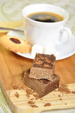 Coffee with biscuits and cake Royalty Free Stock Photos