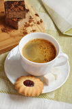 Coffee with biscuits and cake Stock Images