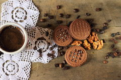 Coffee with biscuits Royalty Free Stock Image