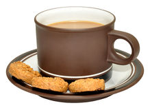 Coffee And Biscuits Stock Photography