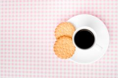 Coffee and biscuits with space for text Stock Photography