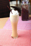 Coffee blended. Cappuccino frappe with whipping cream Royalty Free Stock Images