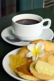 Coffee blin i chleb Zdjęcia Stock