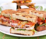 Coffee and BLT sandwiches Royalty Free Stock Photography