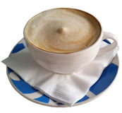 Coffee in Blue Cup 2 Stock Images