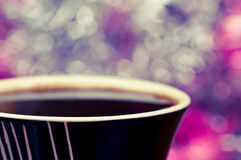 Coffee and bokeh Royalty Free Stock Photography