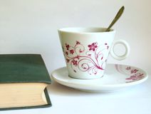 Coffee and a book Stock Photo