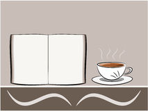 Coffee and book illustration Royalty Free Stock Images