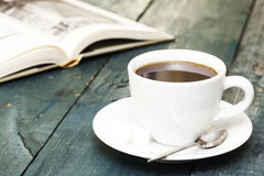Coffee and book Stock Photo
