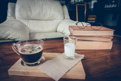 coffee and book stock images