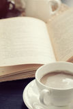 Coffee and book Royalty Free Stock Images