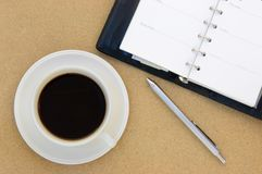 Coffee and book on table Royalty Free Stock Photo