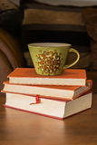 Coffee and books Stock Photography